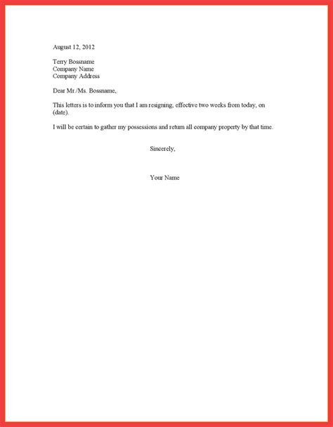 Notice To Quit Letter