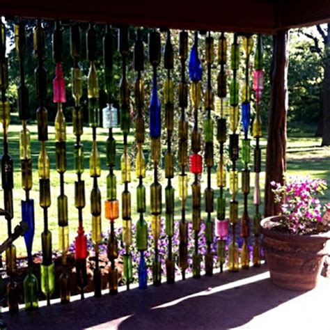 Wine Bottle Garden Wall Upcycled Garden Style A Website From Gardens Inspired