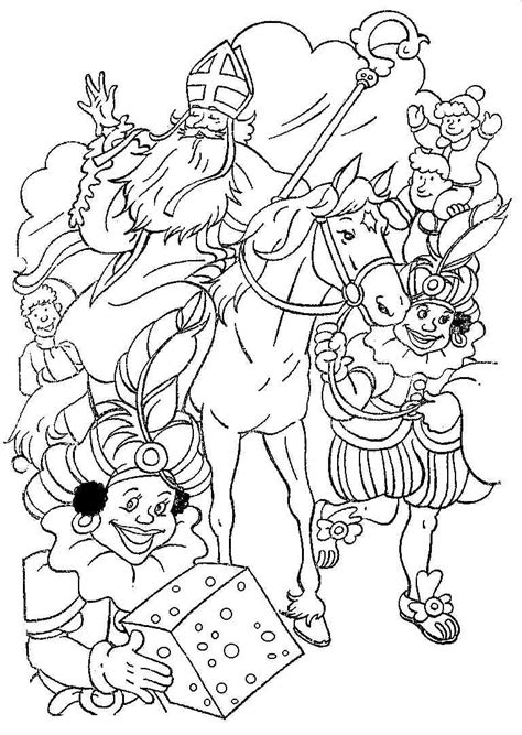doodle club nederland sinterklaas kleurplaten sinterklaas en zwarte pieten
