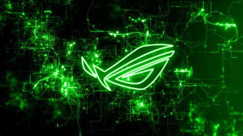 asus wallpaper green uhd 4k asus rog green pulse logo 1826