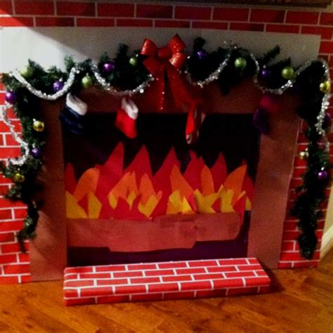 Fireplace Out Of Construction Paper by 258 Best Office Cubical Decorations Etc Images On Crafts