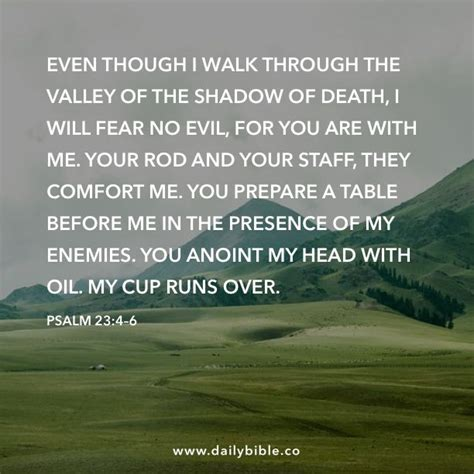 your rod and your staff they comfort me psalm 23 4 6 even though i walk through the valley of the