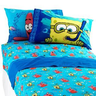 spongebob bedroom set nickelodeon spongebob sea adventure sheet set home bed
