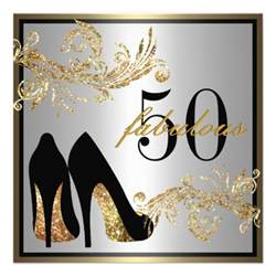 shoes fabulous 50th birthday invitation 5 25 quot square invitation card zazzle