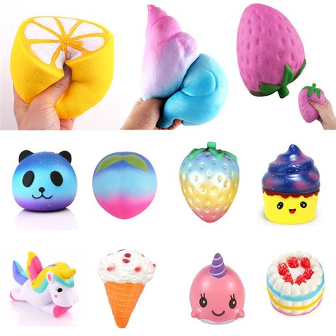 lot jumbo squishy soft rising squeeze pressure relief toys ebay