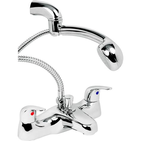 bath mixer tap with shower deva revelle bath shower mixer tap toolstation