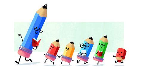 doodle dia do professor homenageia os professores doodle especial