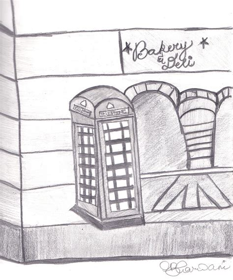 How To Draw A Telephone Booth telephone booth drawing by vijay bharwani