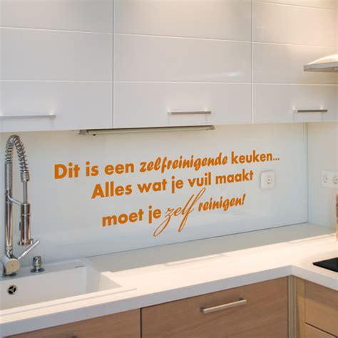 sticker keuken sticker dit is een zelfreinigende keuken ambiance sticker