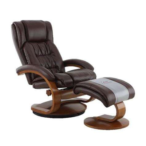 leather swivel recliner with ottoman mac motion oslo collection whisky breathable air leather