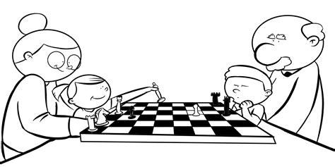 imagenes niños jugando ajedrez colorea abuelos jugando al ajedrez con sus nietos