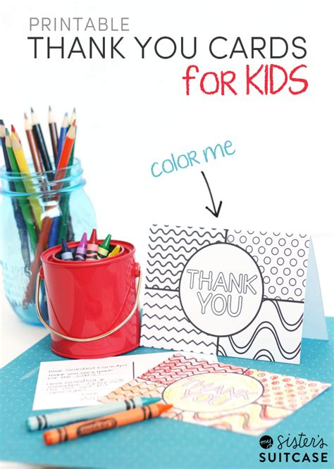 thank you cards for children to make printable thank you cards for my s suitcase