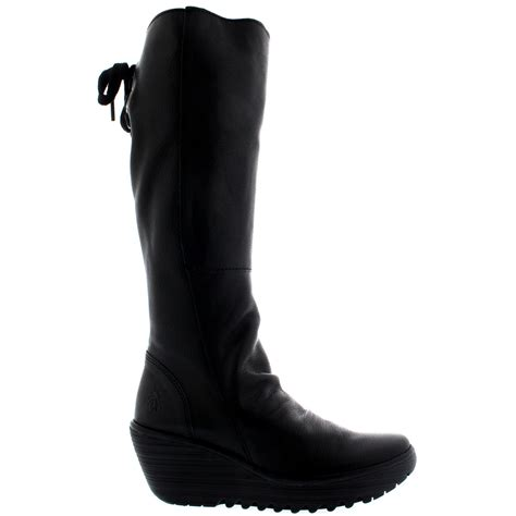 womens fly yust knee high winter leather casual