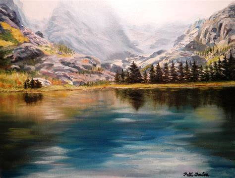 painting montana montana reflections painting by patti gordon