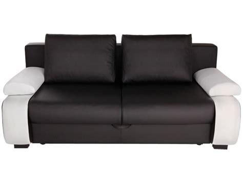 canapé noir et blanc conforama photos canap 233 2 places convertible pas cher conforama
