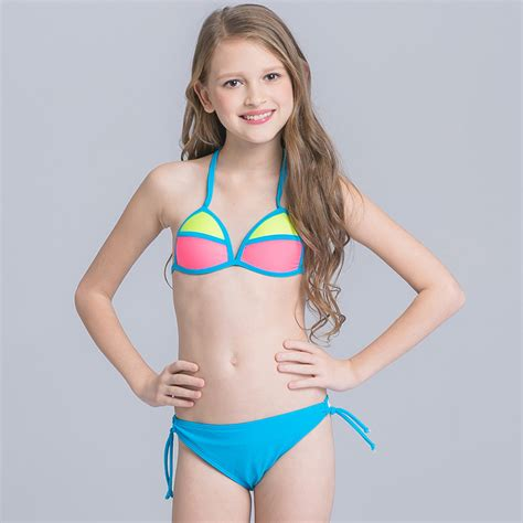 swimwear two piece for kid aliexpress com buy patchwork swimsuit for girls two
