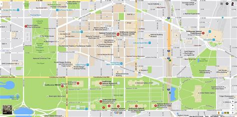 washington dc city layout map smithsonian museums map and directions
