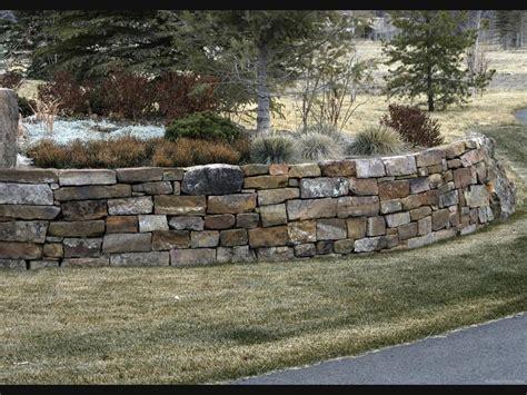 flat stack rock retaining wall stacked stone retaining wall yard ideas pinterest stone