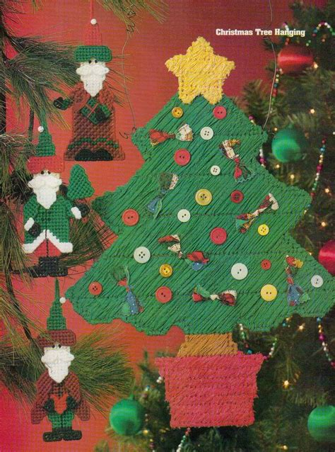 christmas tree plastic canvas pattern christmas tree santa ornaments plastic canvas pattern