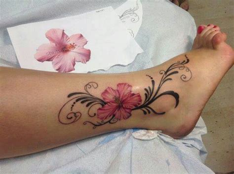 pink flower tattoo tatts pinterest pink flower