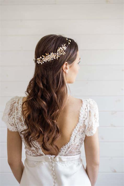 aster pearl wedding hair comb millesime