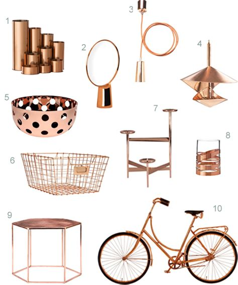 accessories for decorating the home get the look 40 modern copper home accessories stylecarrot