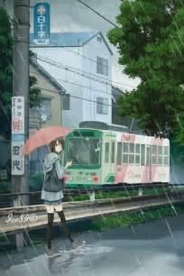 anime girl  rain mobile screensavers  anime girl  rain mobile
