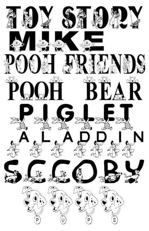 typography characters disney character fonts fonts disney fonts and disney