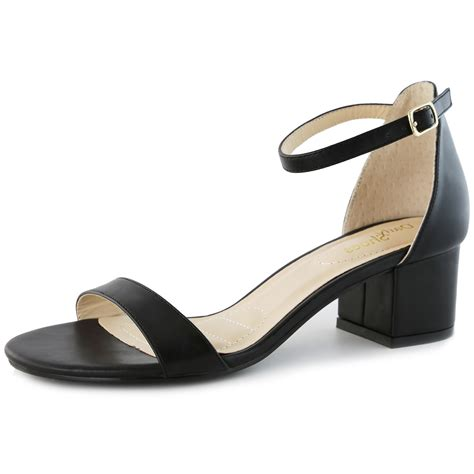 Two Inch Heels - dailyshoes womens synthetic strappy high heels with chunky