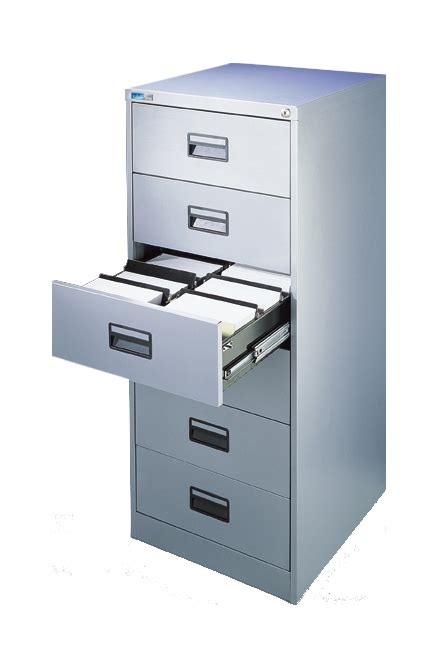 Silverline Media and Card Index Filing Cabinet 6 Drawer