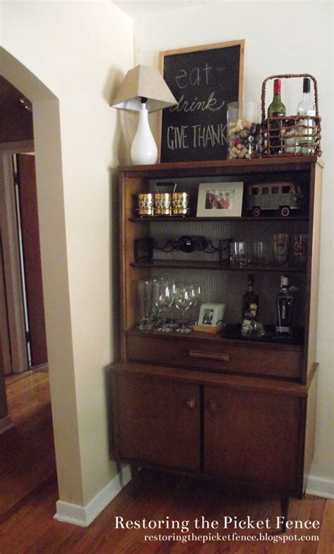 restoring the picket fence bookcase bar makeover