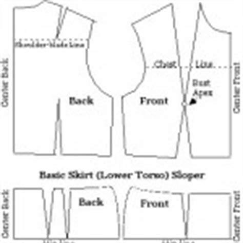 basic sloper sewing patterns sewing blog burdastyle com image gallery sloper