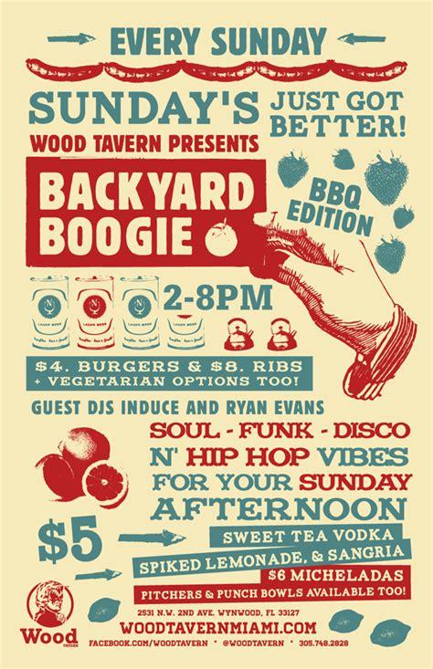 backyard boogie backyard boogie at wood tavern sunday word in town