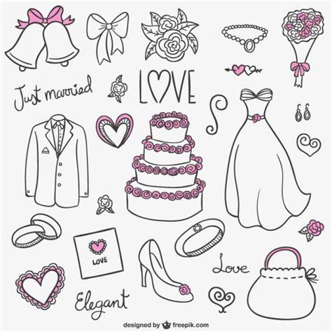 imagenes a blanco y negro de novios colecci 243 n de dibujos de boda descargar vectores gratis