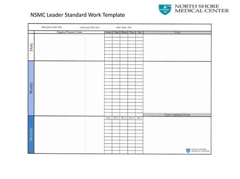 Leader Standard Work Template