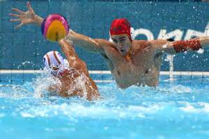 water polo goalkeeper books water polo goalkeeper clark tries to save against