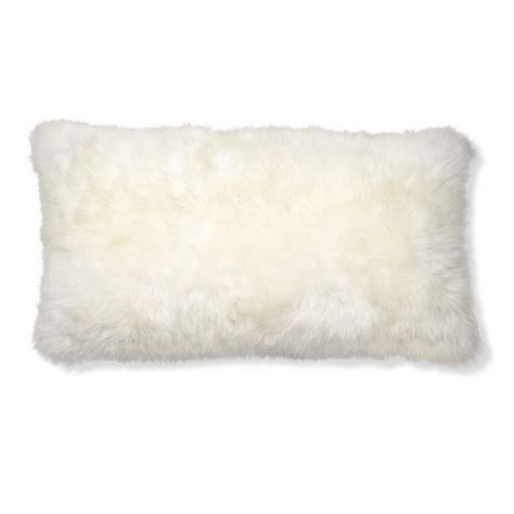 Sheepskin Pillow Covers by Sheepskin Lumbar Pillow Cover Ivory Williams Sonoma