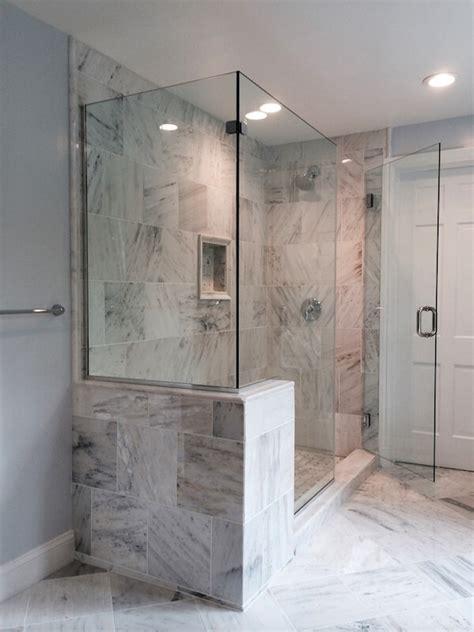 Corner Shower Stalls Craftsman Corner Shower Idea In Corner Glass Shower Doors Frameless