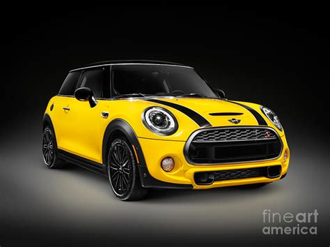 Mini Cooper Yellow by Yellow 2014 Mini Cooper S Hatchback Car Photograph By