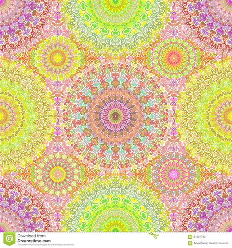 Moroccan Print Curtains Colorful Hippie Mandala Seamless Pattern Stock Vector