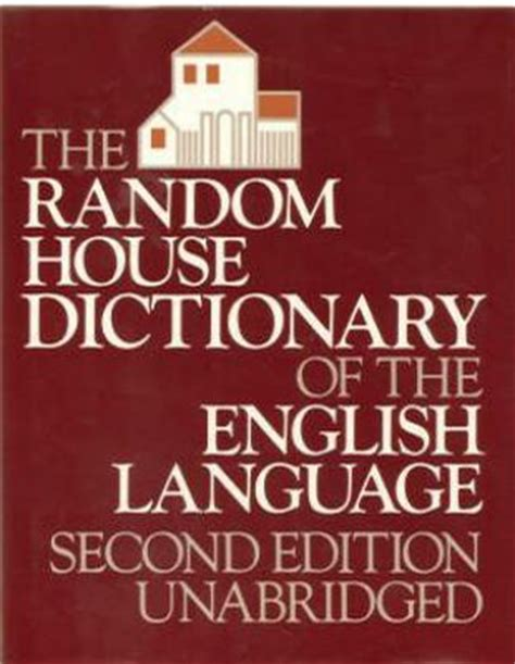 Random House Dictionary Of The English Language Stuart Berg Flexner Hardcover