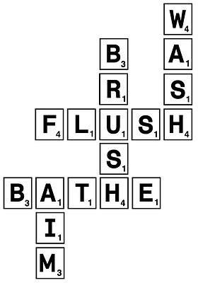 scrabble bathroom tiles scrabble bathroom tiles tile design ideas