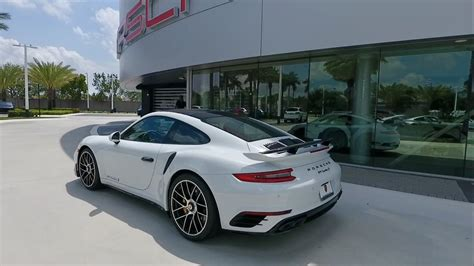 porsche 2017 white 2017 carrara white porsche 911 turbo s 580 hp porsche