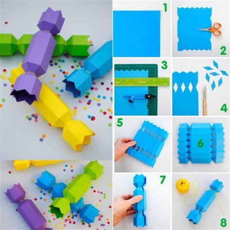How To Make A Cracker Out Of Paper - schachteln basteln f 252 r kleine geschenke vorlagen und ideen