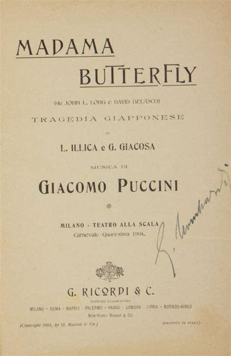 libreria puccini puccini giacomo madama butterfly libretto d opera