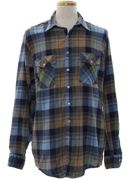 pattern blue lumberjack shirt vintage lumberjack 1960s shirt late 60s lumberjack mens