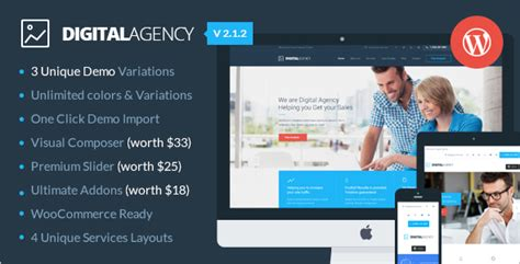 wordpress templates for advertising agencies 18 digital agency wordpress templates free themes