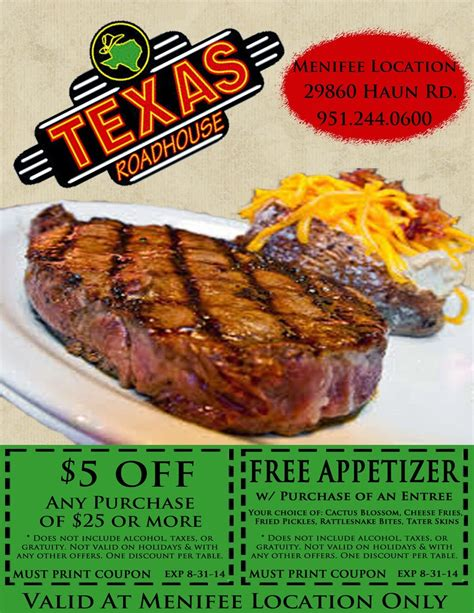 Texas Roadhouse Printable Coupons   2017   2018 Best Cars