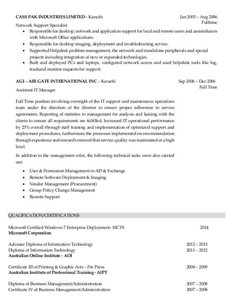 It Desktop Support Resume Network Support Engineer Resume Sle Virtren Desktop