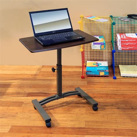 seville classics seville classics walnut laptop desk web162 the home depot